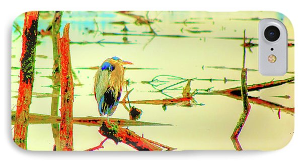 IPhone Case featuring the photograph Blue Heron by Dale Stillman