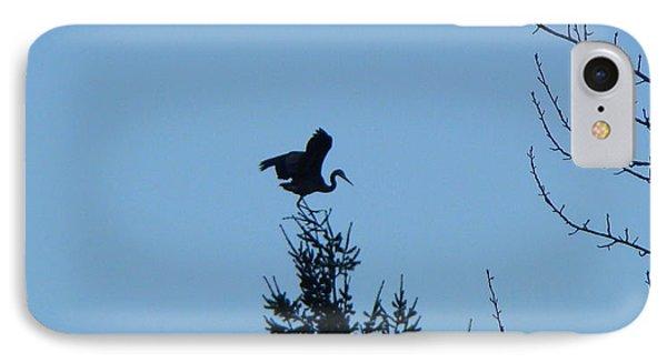 Blue Heron Dance IPhone Case