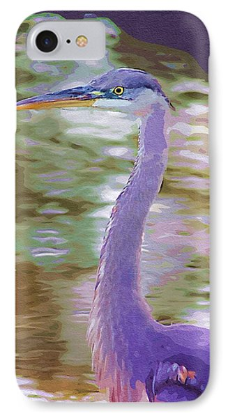 Blue Heron IPhone Case by Donna Bentley