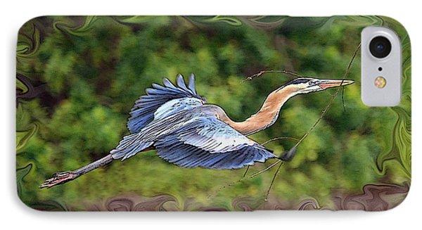 IPhone Case featuring the photograph Blue Heron Flight by Shari Jardina