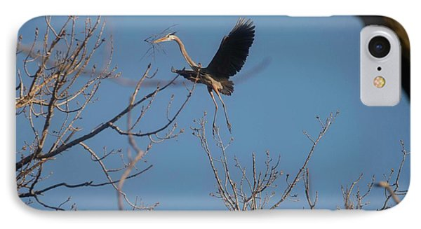IPhone Case featuring the photograph Blue Heron Landing by David Bearden