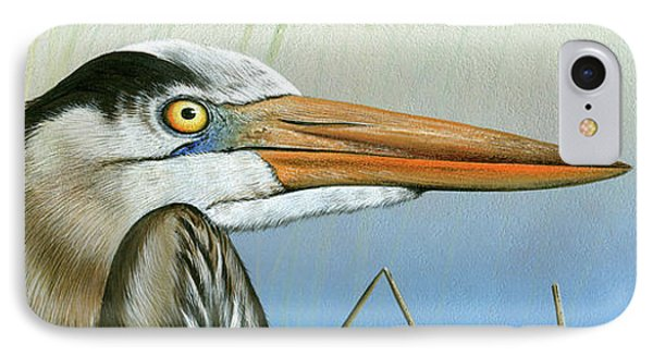Blue Heron  IPhone Case by Mike Brown