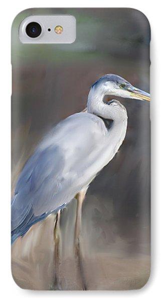 Blue Heron Painting  IPhone Case