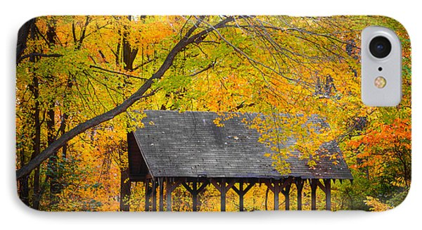 Blue Heron Park In The Fall 2 IPhone Case by Kenneth Cole