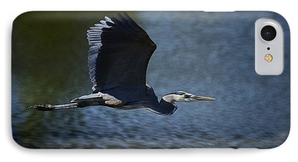 Blue Heron Skies  Phone Case by Saija  Lehtonen