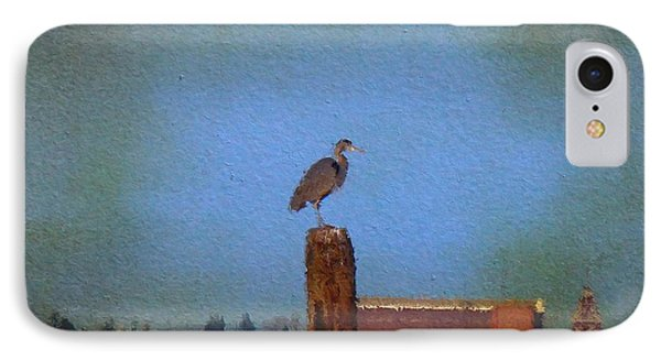 Blue Heron Sky Painted IPhone Case