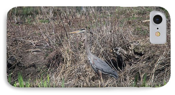 IPhone Case featuring the photograph Blue Heron Stalking Dinner by David Bearden