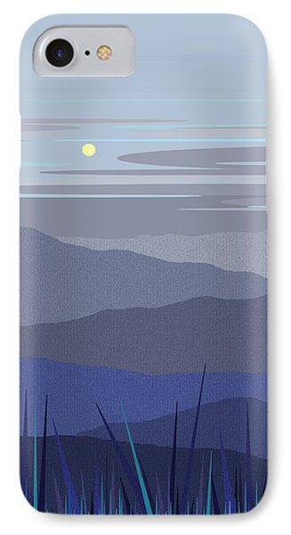 Blue Hills Vertical IPhone Case by Val Arie
