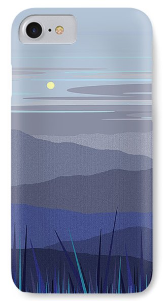 IPhone Case featuring the digital art Blue Hills Vertical by Val Arie