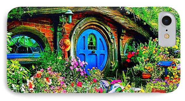 Blue Hobbit Door IPhone Case