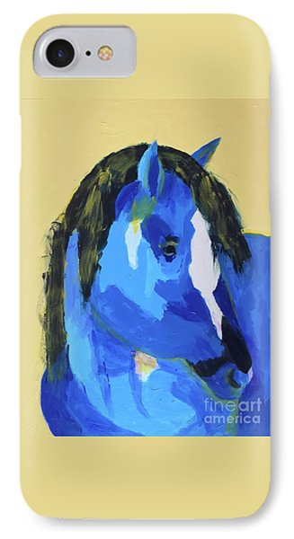 IPhone Case featuring the painting Blue Horse 2 by Donald J Ryker III