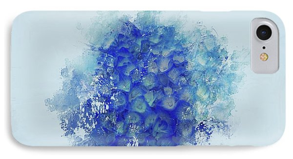 Blue Hortensia IPhone Case by Eva Lechner