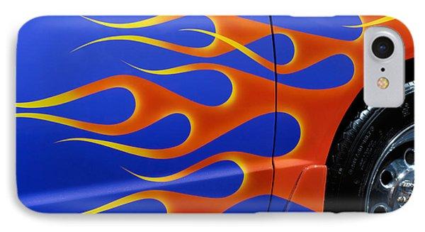 Blue Hot Rod Closeup Phone Case by Oleksiy Maksymenko