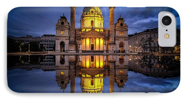 Blue Hour At Karlskirche IPhone Case