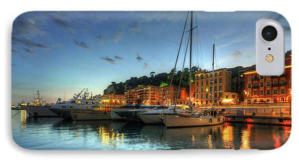 IPhone Case featuring the photograph Blue Hour At Port Nice 2.0 by Yhun Suarez