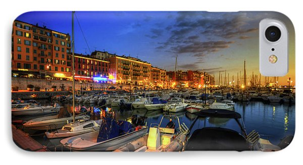 IPhone Case featuring the photograph Blue Hour At Port Nice 1.0 by Yhun Suarez