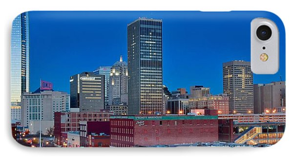 Blue Hour Okc Panoramic View IPhone Case