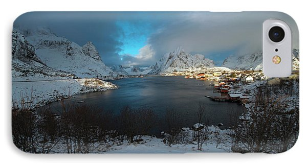 IPhone Case featuring the photograph Blue Hour Over Reine by Dubi Roman