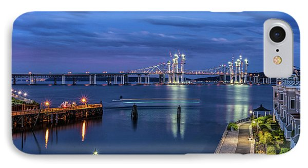 Blue Hour Over The Hudson IPhone Case by Jeffrey Friedkin