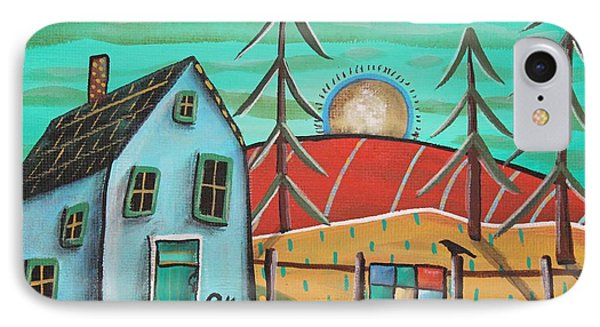 Blue House 1 IPhone Case