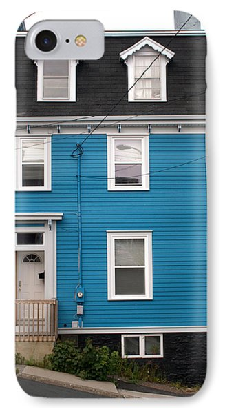 Blue House IPhone Case by Douglas Pike