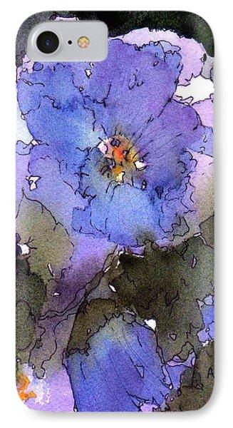 Blue Hyacinth IPhone Case by Anne Duke