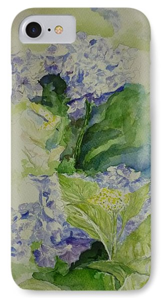 Blue Hydrangea Phone Case by Lizzy Forrester