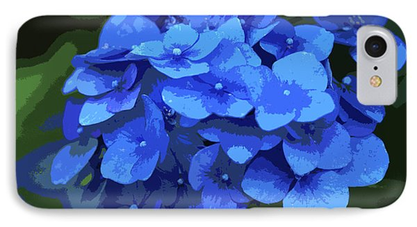 Blue Hydrangea Stylized IPhone Case by Sharon Talson