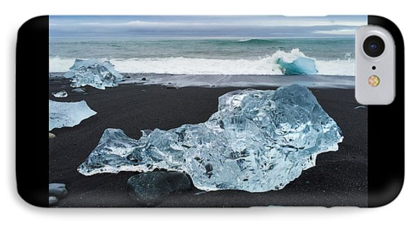 Blue Ice In Iceland Jokulsarlon IPhone Case
