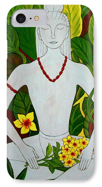 IPhone Case featuring the painting Blue Idol by Stephanie Moore
