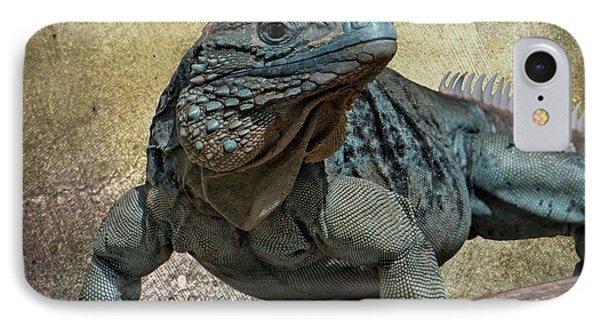 Blue Iguana IPhone Case