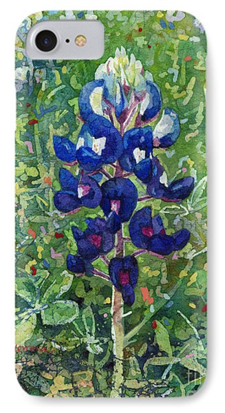 IPhone Case featuring the painting Blue In Bloom 2 by Hailey E Herrera