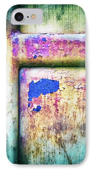 IPhone Case featuring the photograph Blue In Iron Door by Silvia Ganora