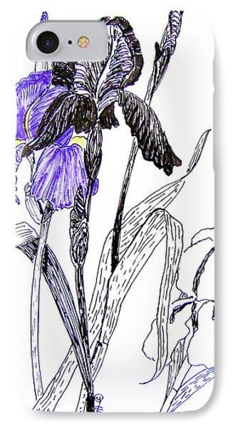 Blue Iris Phone Case by Marilyn Smith