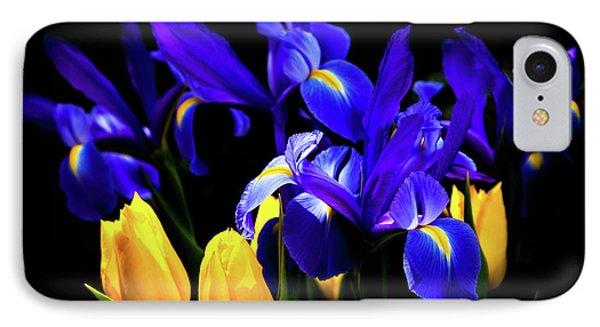 Blue Iris Waltz By Karen Wiles IPhone Case by Karen Wiles