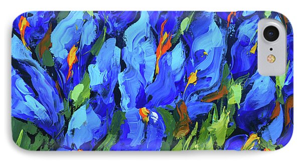 IPhone Case featuring the painting Blue Irises by Dmitry Spiros