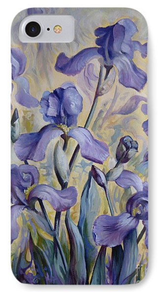 Blue Irises IPhone Case by Elena Oleniuc