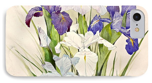 Blue Irises-posthumously Presented Paintings Of Sachi Spohn  IPhone Case by Cliff Spohn