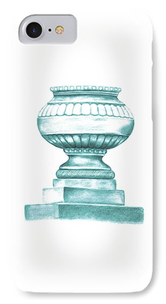 IPhone Case featuring the digital art Blue Jardiniere  by Elizabeth Lock