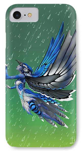 IPhone Case featuring the digital art Blue Jay Fairy by Stanley Morrison