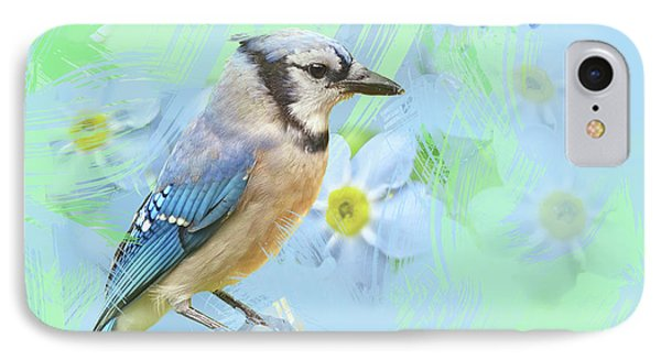 IPhone Case featuring the photograph Blue Jay Watercolor Photo by Heidi Hermes