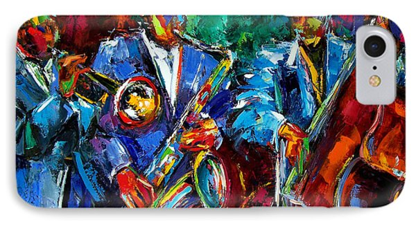 Blue Jazz Phone Case by Debra Hurd