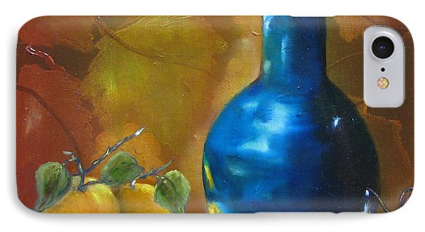 Blue Jug On The Shelf Phone Case by Carol Sweetwood