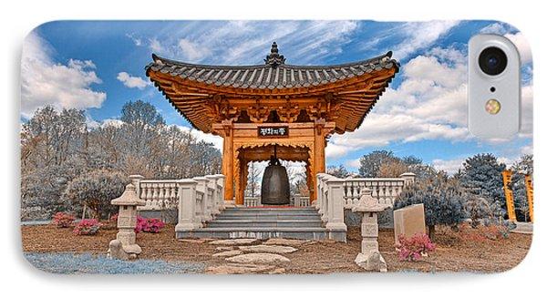 Blue Korean Bell Garden IPhone Case