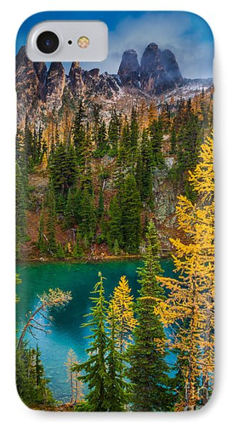 Blue Lake And Early Winter Spires IPhone Case