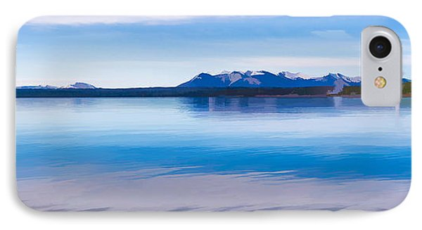 Blue Lake Horizon II IPhone Case by Jon Glaser