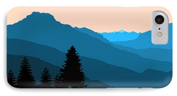 Blue Landscape IPhone Case by Thomas M Pikolin