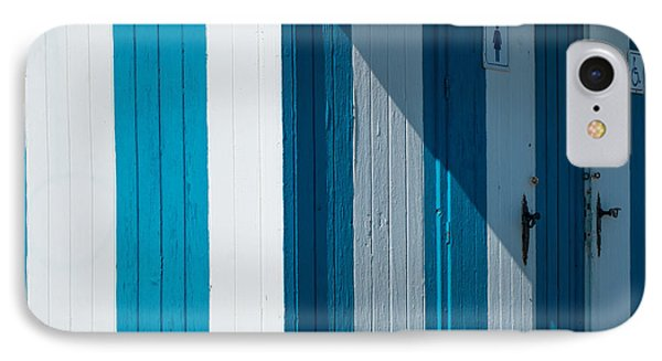 Blue Lined IPhone Case by Piet Scholten