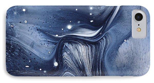 Marbling - Blue Liquid IPhone Case by BONB Creative
