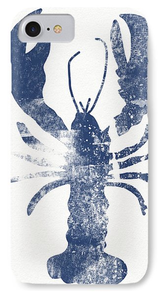 Blue Lobster- Art By Linda Woods IPhone Case by Linda Woods